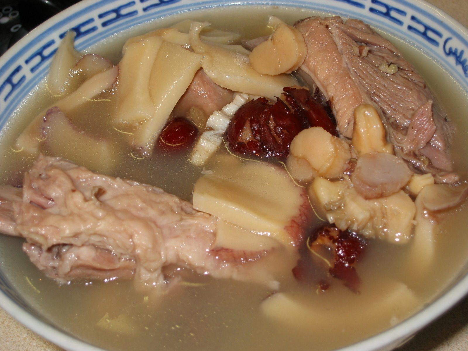 Conch, Conpoy and Pork Ribs Soup