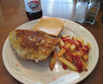 Fried Panko Coated Cod Sandwich w/ Baked Crinkle Fries