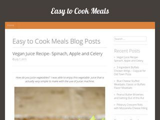 Easy to Cook Meals and Inspiration