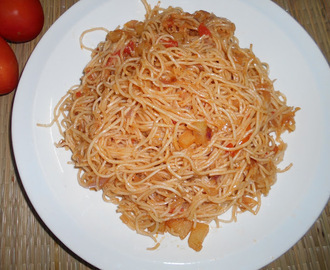 Paramita's  Kitchen: Tomato  Noodles  Recipe
