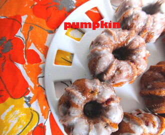Pumpkin-Banana-Cranberry Mini Bundt Cakes