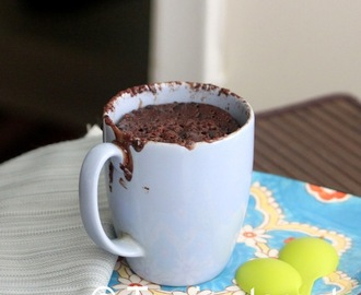 Chocolate Mug cake with Alfa One Rice Bran Oil