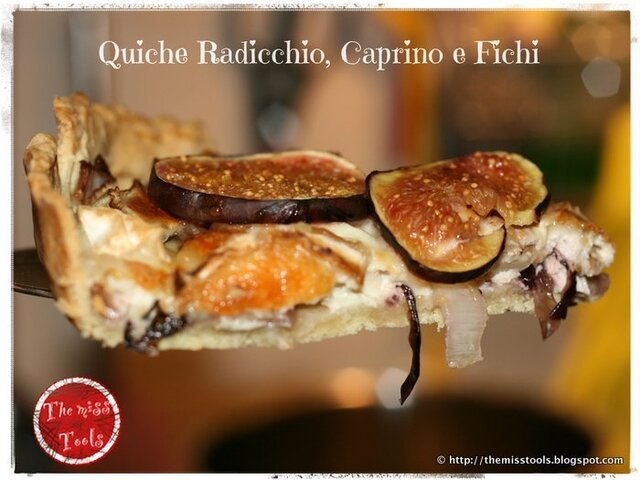 Quiche radicchio, caprino e fichi - Radicchio, goat cheese and figs quiche