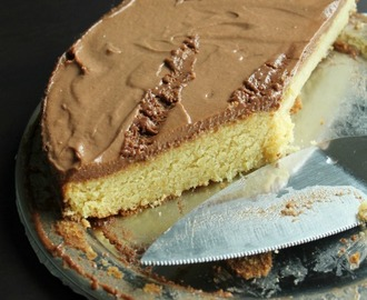 Vanilla Sponge cake with nutella whipped cream frosting
