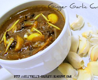 Inji Poondu Kuzhambu / Ginger garlic curry