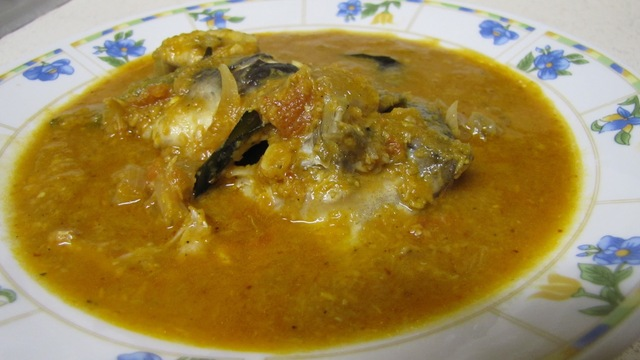 Meen kulambu / Fish curry 2 using freshly ground spices...