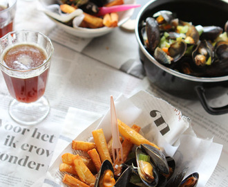 Mussels with Belgian fries for Food Revolution day