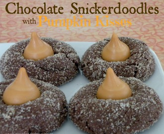 Chocolate Snickerdoodles with Pumpkin Kisses