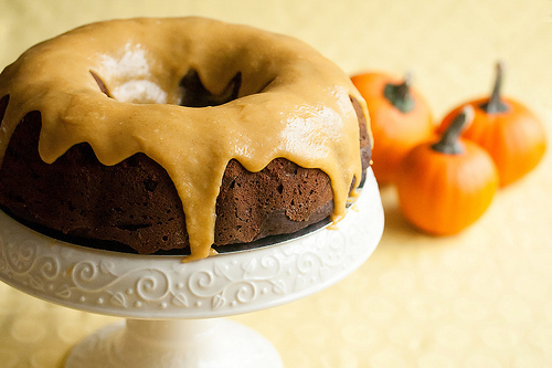 Secret Recipe Club: Iced Pumpkin Chocolate Spice Bundt Cake