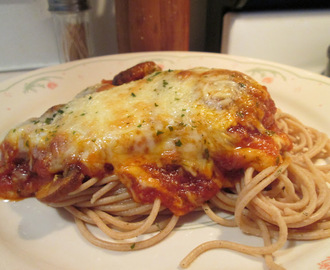 Chicken Parmesan w/ Whole Grain Spaghetti and Italian Loaf Bread