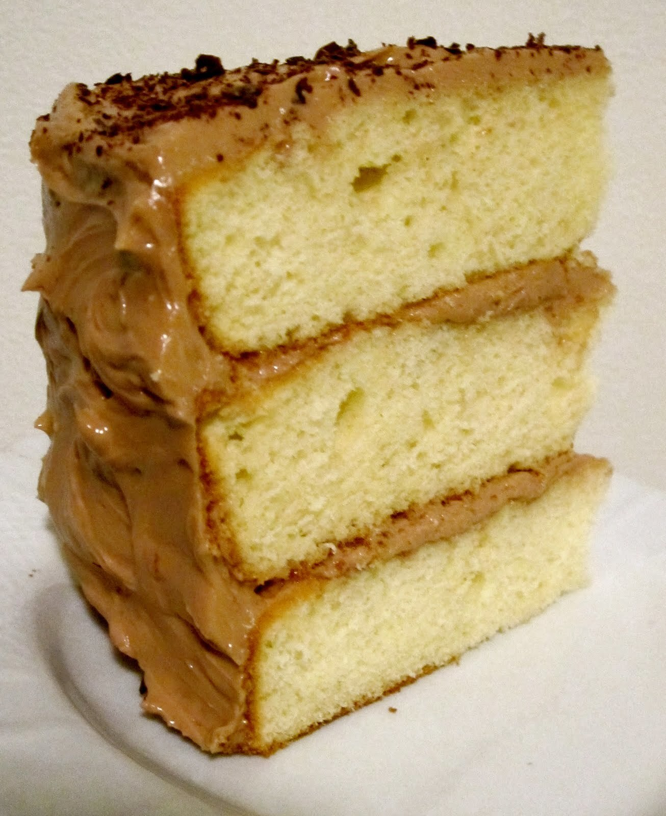 Yellow Cake with Milk Chocolate Buttercream