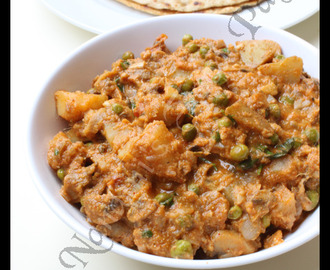 Chettinadu Aloo Muttar Mushroom Curry
