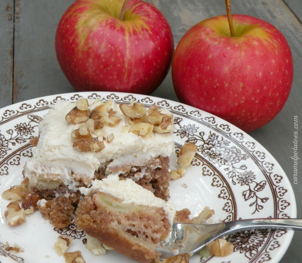 Fresh Apple Cake with Browned Butter Frosting