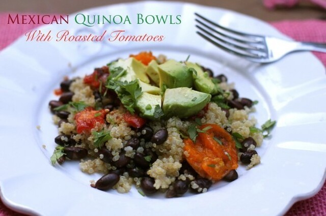 Mexican Quinoa Bowls with Roasted Tomatoes