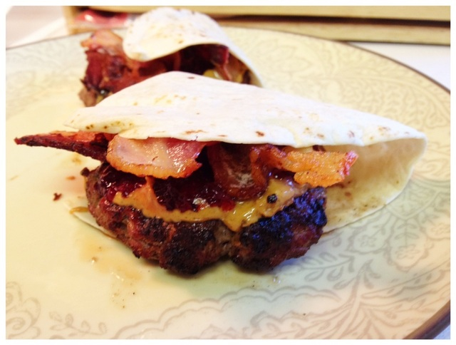 Low Carb Peanut Butter & Jelly and Bacon Burgers