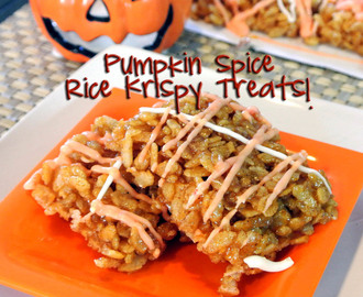 Pumpkin Spice Rice Krispy Treats