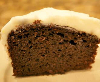 Intense Gingerbread Cake with Lemon Frosting
