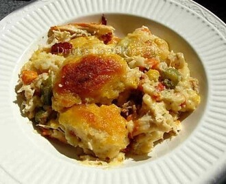 Creamy Crust Chicken Pot Pie Casserole