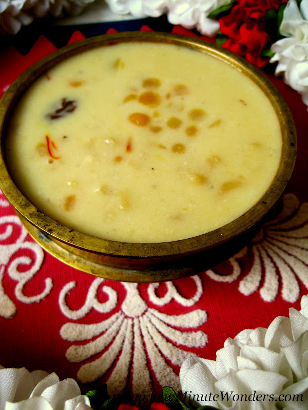 Kadala Paruppu Payasam For Tamil New Year