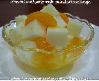 Almond Milk Jelly with Mandarin Orange