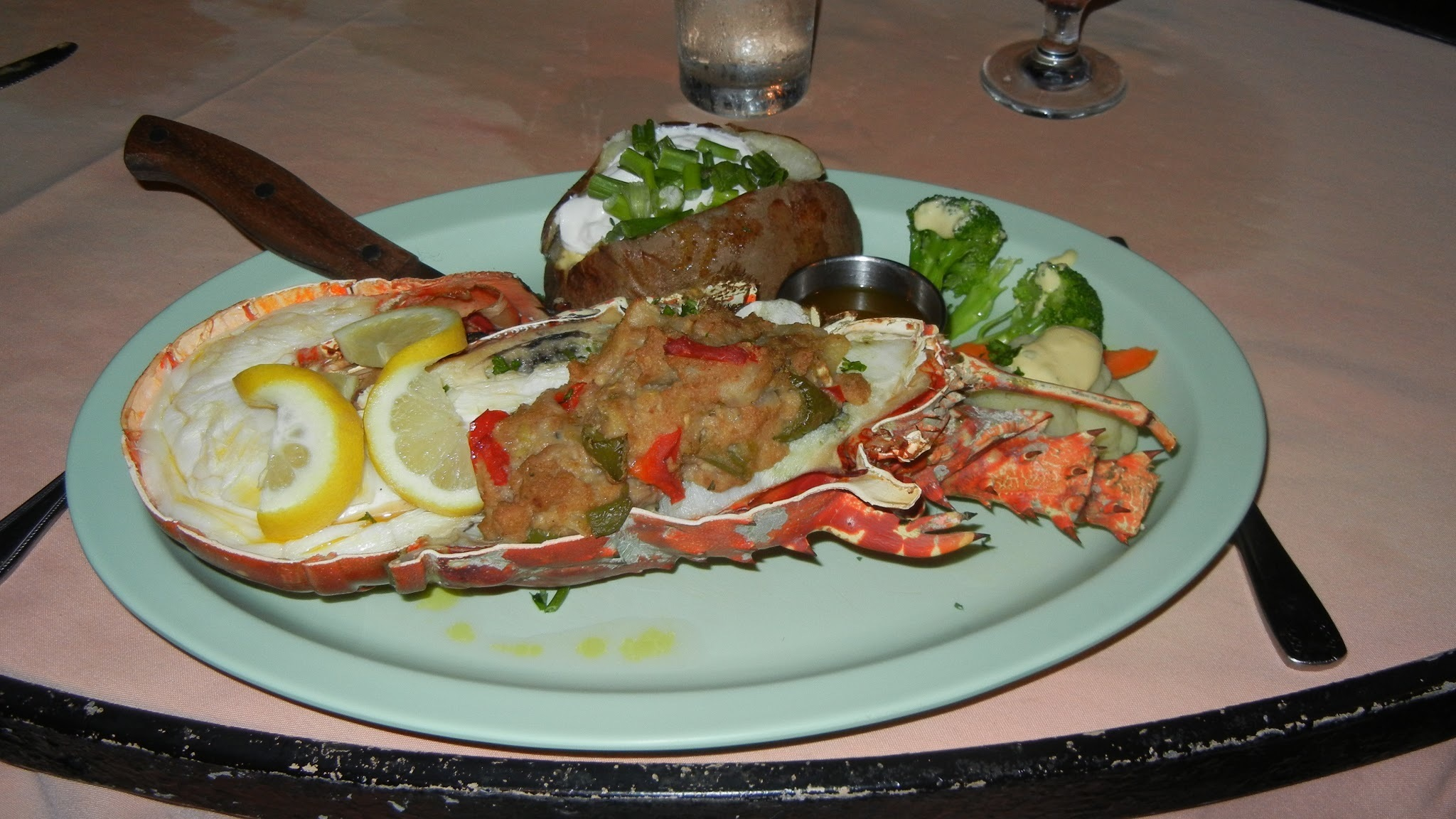 Stuffed Lobster Caribbean Style