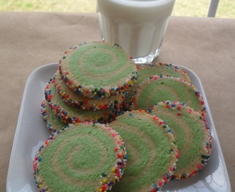 Happy Cookies...Pinwheel Cookies with Sprinkle Edges