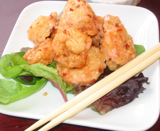 Momma's Birthday...Fried Shrimp with Spicy Thai Sauce