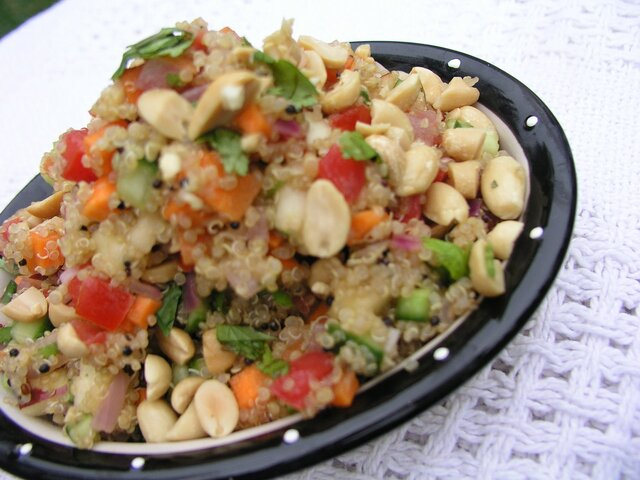 Quinoa Salad Made Indian Style