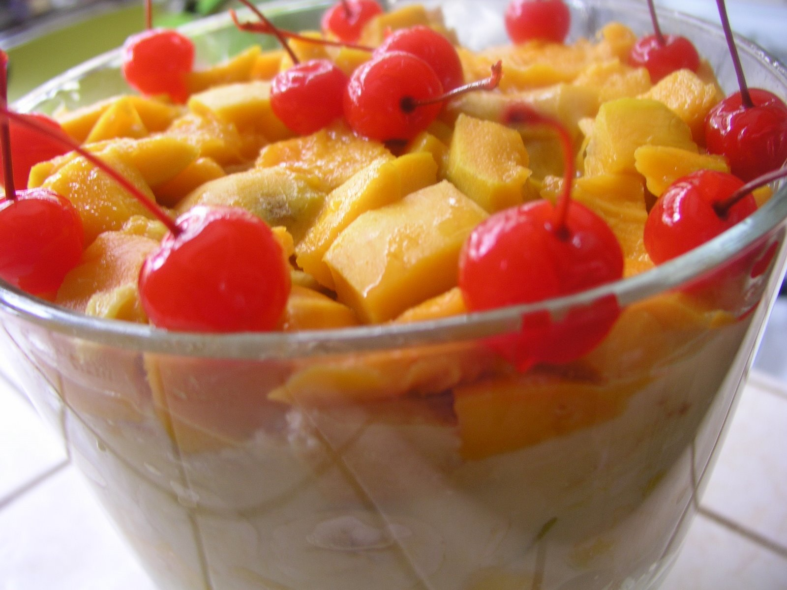 Mango Trifle Pudding