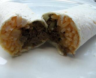 Lengua Burrito Grande (Beef Tongue) The things we do for love.