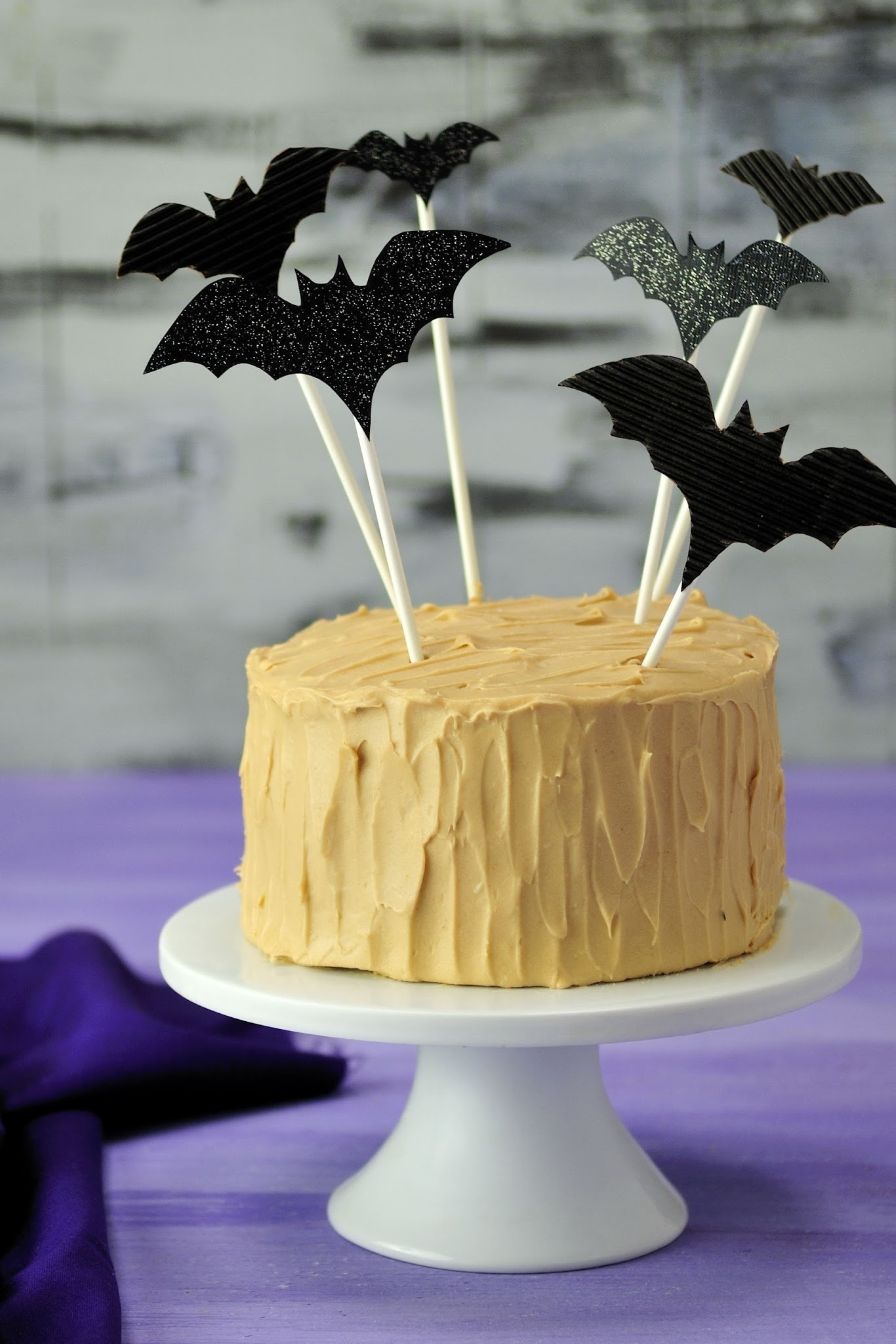 Brown Sugar Cake with  Cream Cheese Caramel Frosting