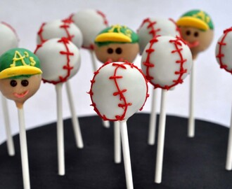 Take Me Out to the Ball Game - Cake Pops