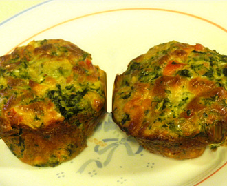 Bake With Bizzy -- Mini-Spinach & Avocado Quiches