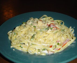 Lobster Pasta with Brandy Cream Sauce