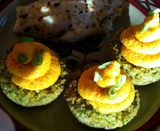 "Broccoli ""Cupcakes"" with Carrot ""Frosting!"" GF, V & BED!"