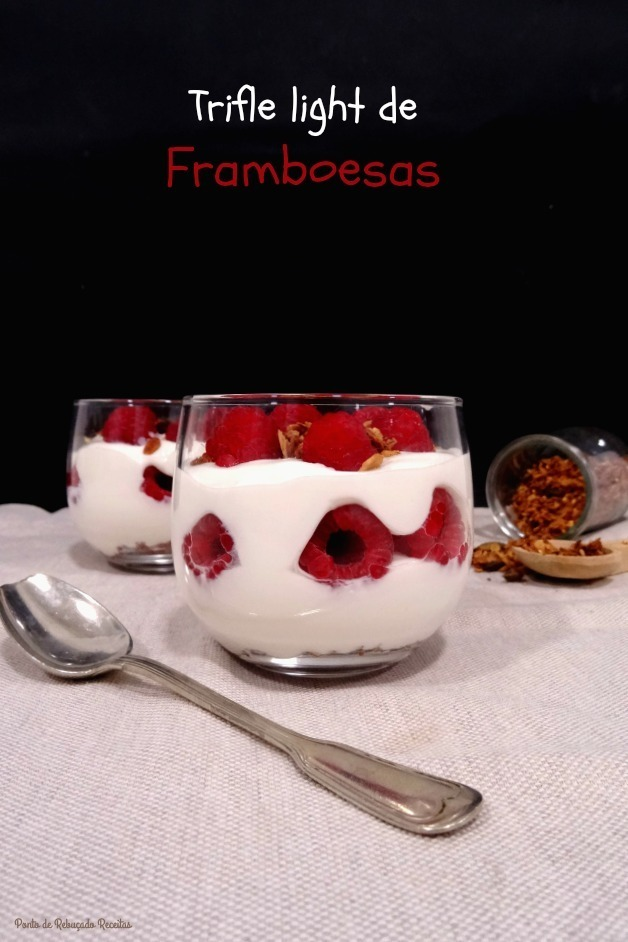 Trifle light de framboesas