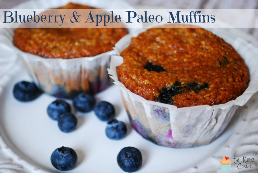 Blueberry & Apple Paleo Muffins