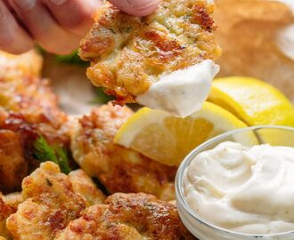 Cheesy Chicken Fritters (VIDEO)