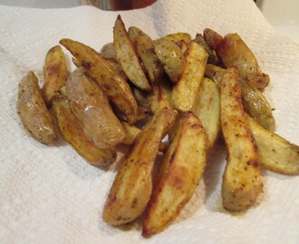 Sweet Asian Chili Flavored Chicken Wings w/ Oven-Roasted Fingerling Potato Fries