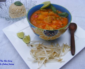 Thai Vegetable and Tofu red Curry (Vegetarian)
