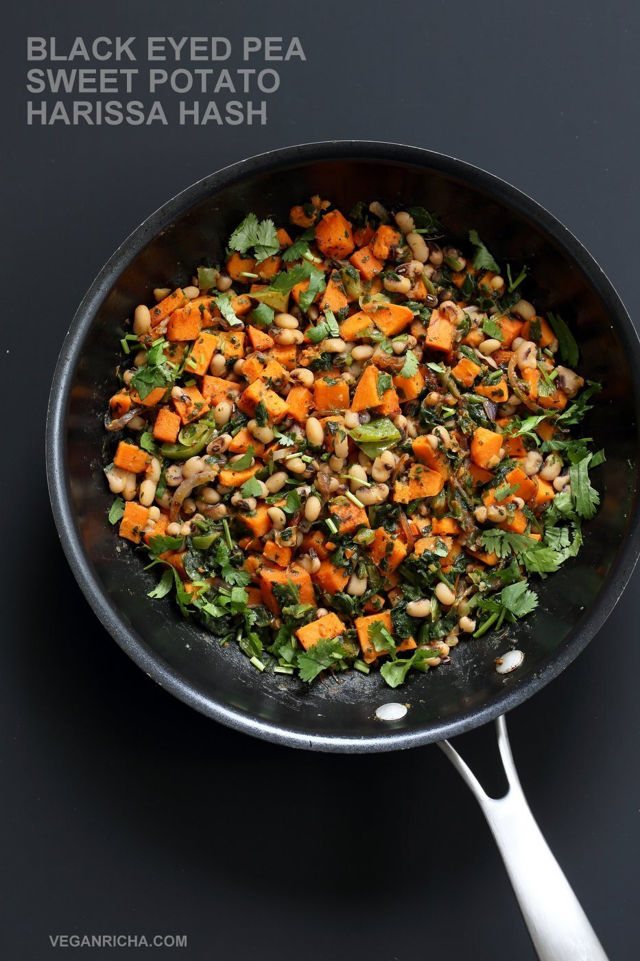 Black Eyed Pea and Sweet Potato Hash