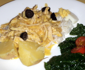 Peruvian Spicy Creamed Chicken - Aji de Gallina