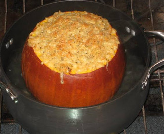Lamb and Rice Stuffed Pumpkin
