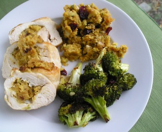 National Men Make Dinner Day: Pumpkin Cornbread Stuffed Chicken Breasts