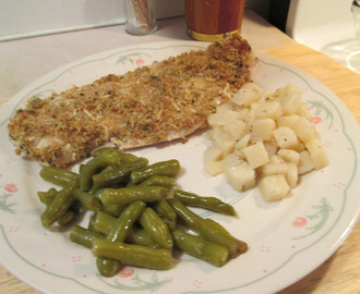 Baked Red Snapper With Garlic w/ Green Beans, Diced New Potatoes,...