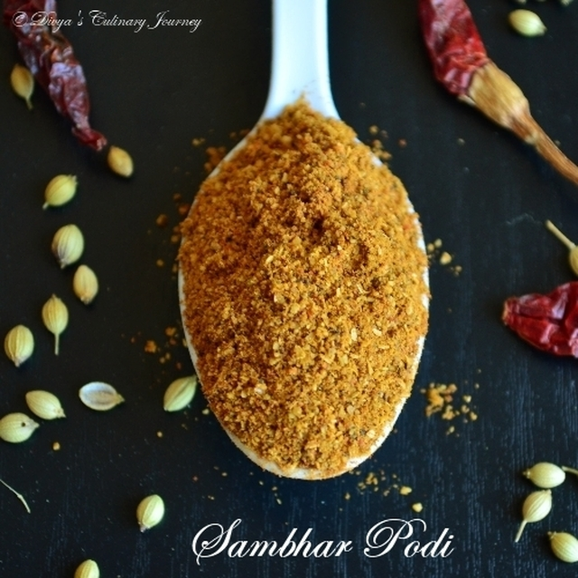 Home made Sambhar Powder/ Sambhar Podi