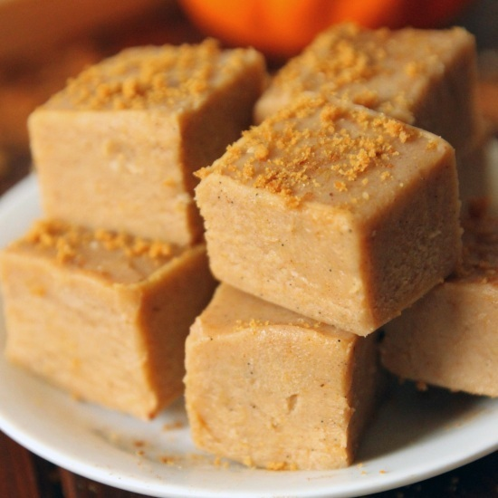 No-Bake White Chocolate Pumpkin Fudge