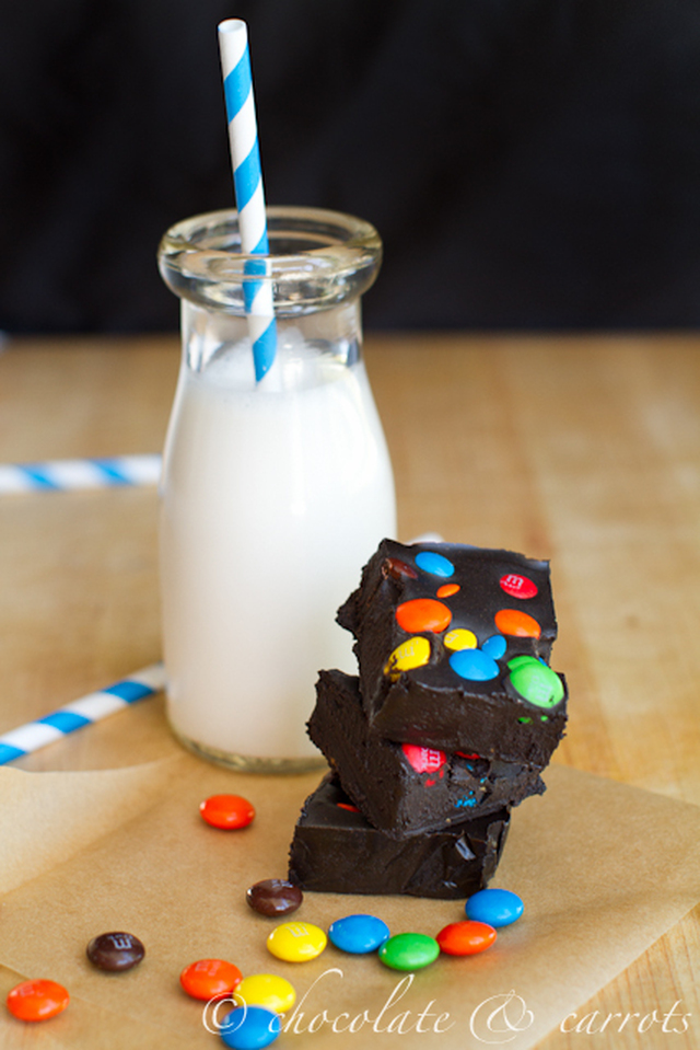 Healthier Dark M&M Fudge
