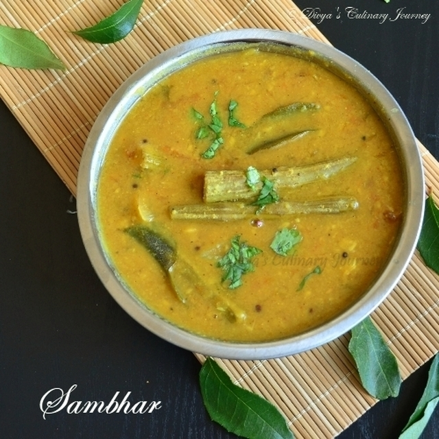 Sambhar - using sambhar podi