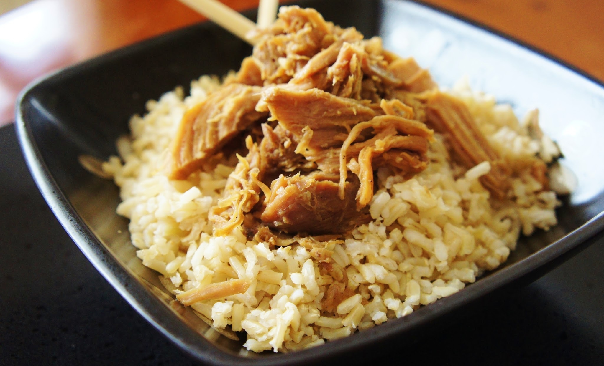Recipe for Slow Cooker Asian Pulled Pork over Rice